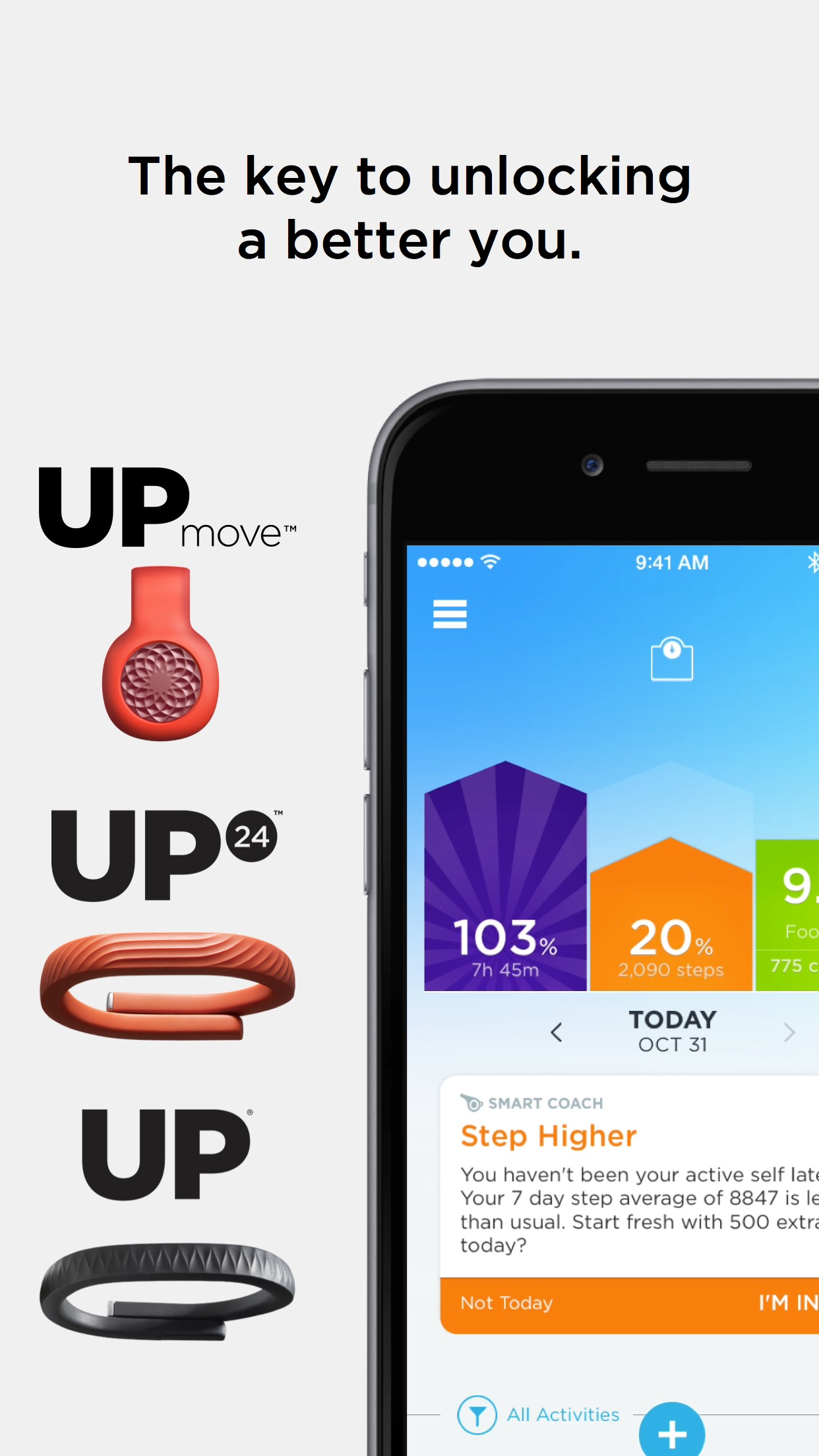 UP® for UP Move™, UP24™, and wired UP® bands Screenshot