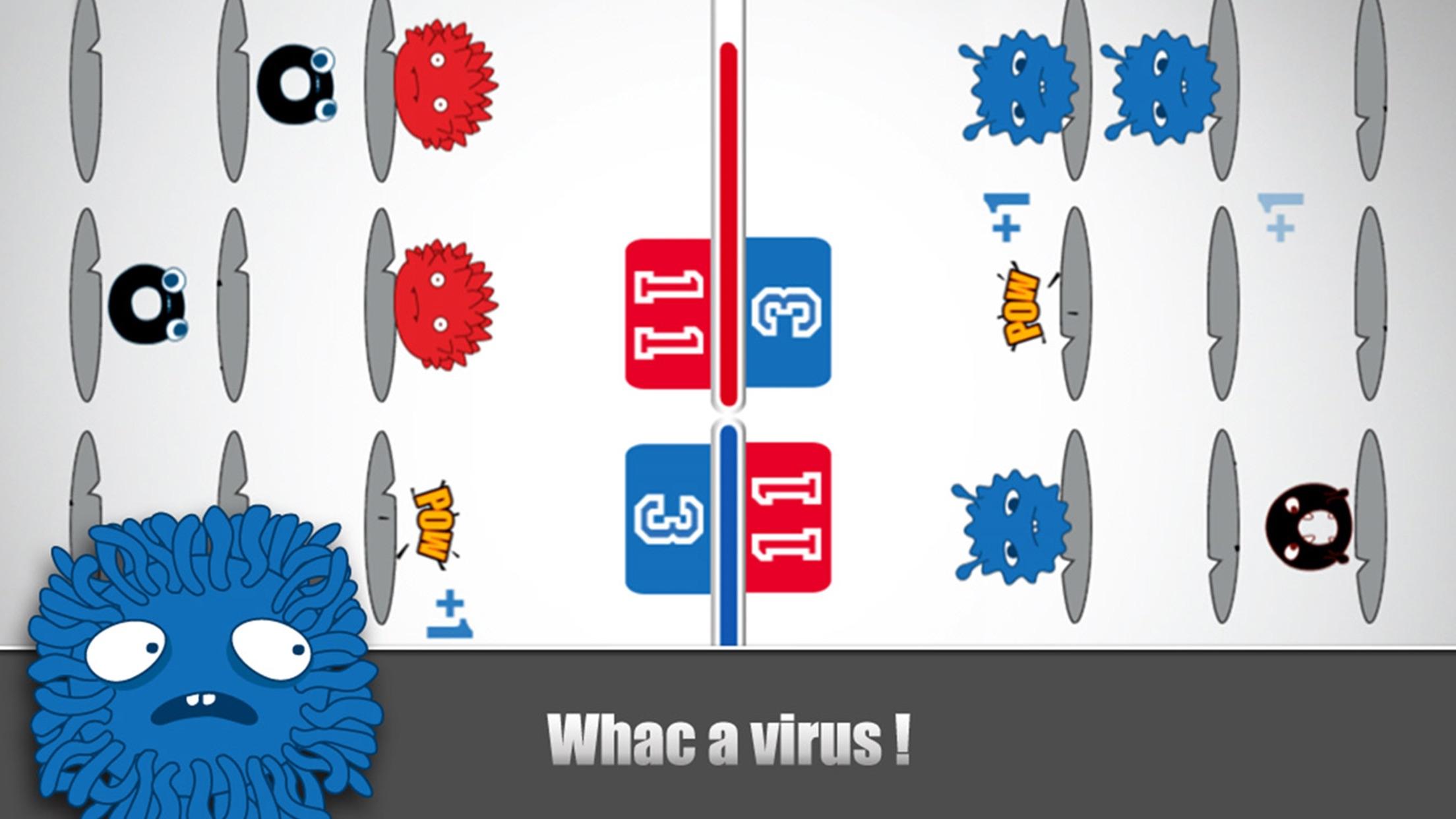 Virus Vs. Virus Delux (multiplayer versus game collection) Screenshot