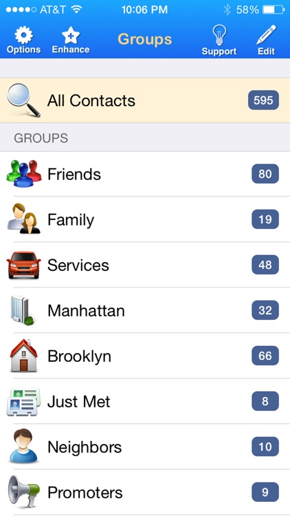 Contacts + Groups