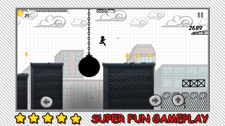 Line Rooftop Run : Stickman Escape Runner Free Edition screenshot-2