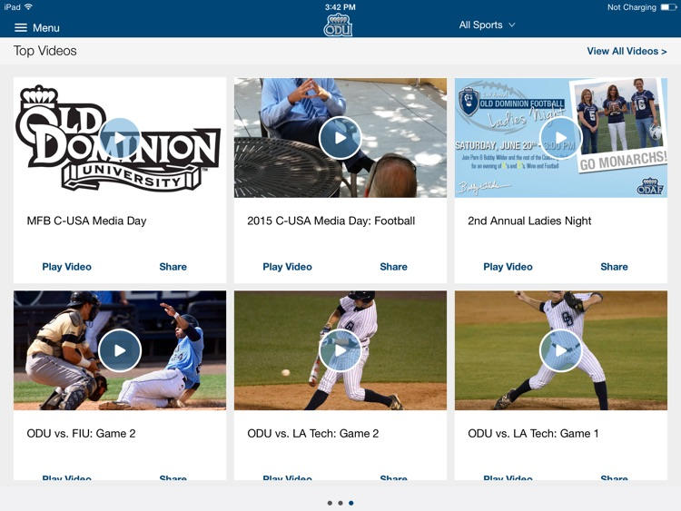 ODU Sports iPad 2015 screenshot-1