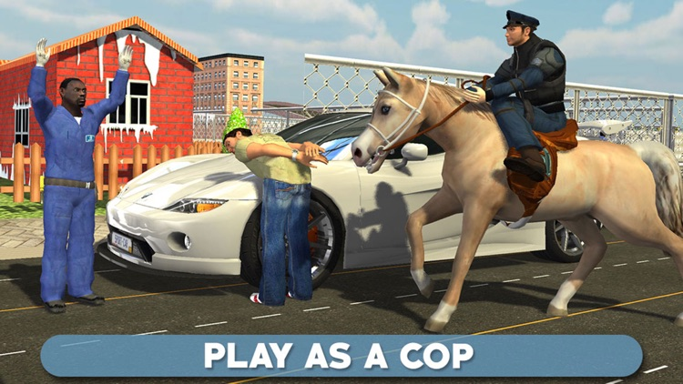 Police Horse Chase 3D - Sheriff Arrest the Thief & Robbers to Control the Town Crime Rate screenshot-4