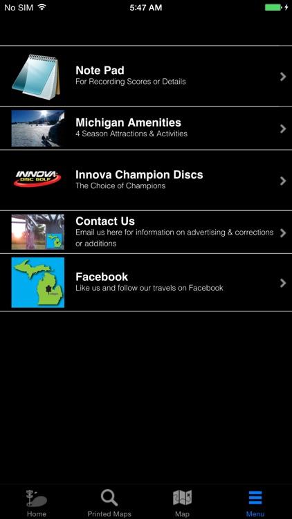 Michigan Disc Golf Travel App screenshot-3