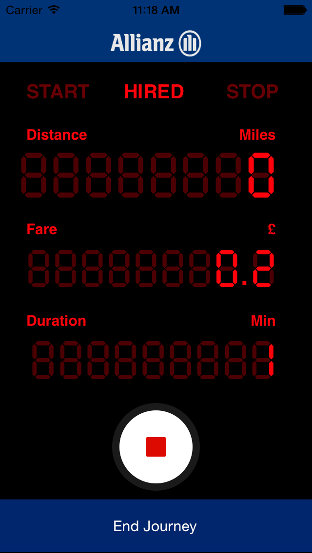 Allianz Taxi Meter screenshot two