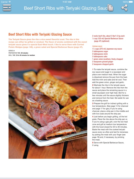 Barbecue Cookbook for iPad