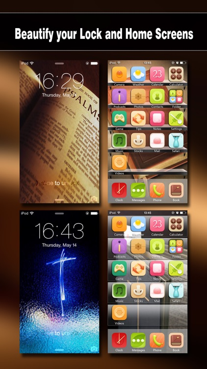 Bible Wallpapers Pro - Backgrounds & Lock Screen Maker with Holy Retina Themes for iOS 8 & iPhone 6 screenshot-1