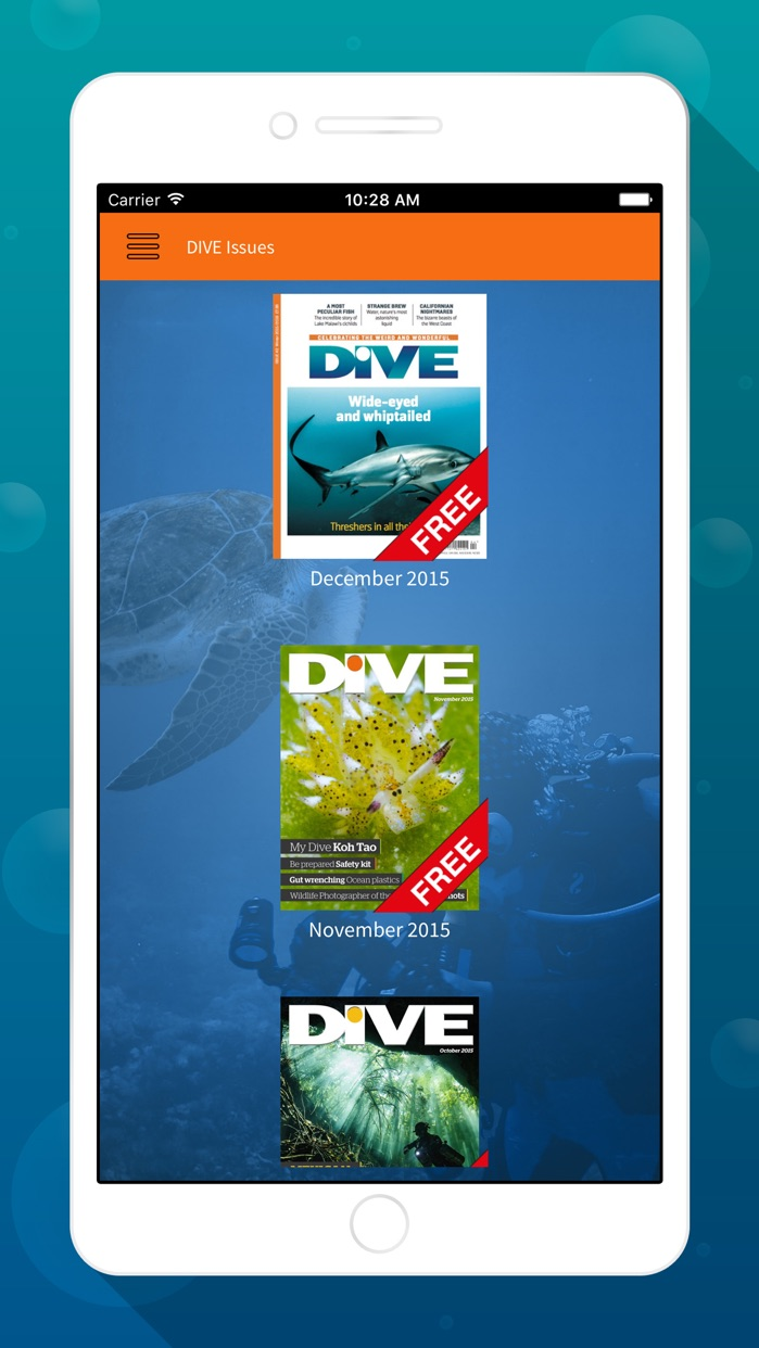 DIVE Magazine – Underwater scuba guides, tips & photography from the sporting world of diving Screenshot
