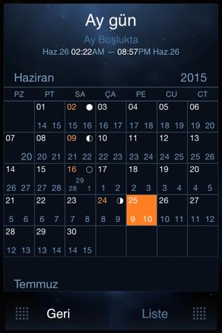Deluxe Moon Pro - Moon Phases Calendar screenshot 3