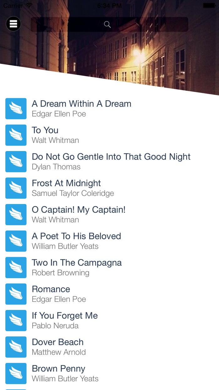 Wings - Poems & Poets for the Love of Poetry Screenshot