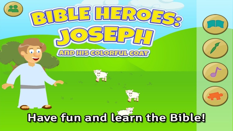 Bible Heroes: Joseph and his Multicolor Coat - Bible Story, Coloring, Singing, and Puzzles for Children screenshot-0