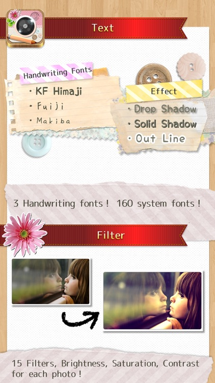InstaDeco - Sticker, PicFrame, Collage and Text for Instagram, Purikura screenshot-3