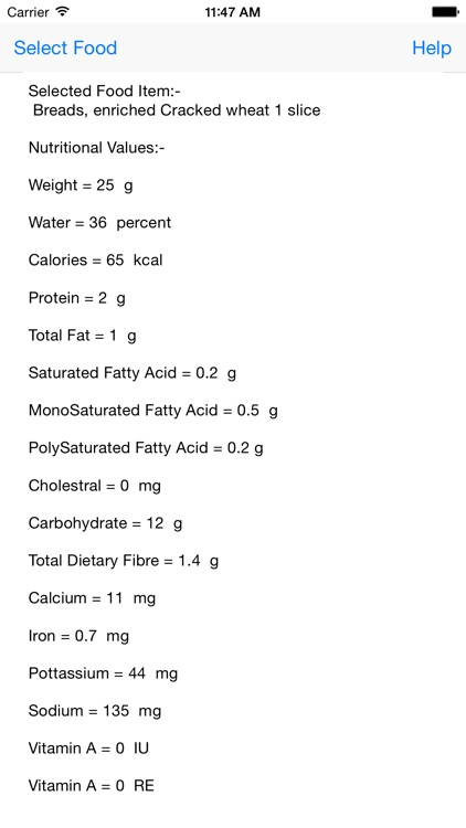 NutriValues screenshot-2