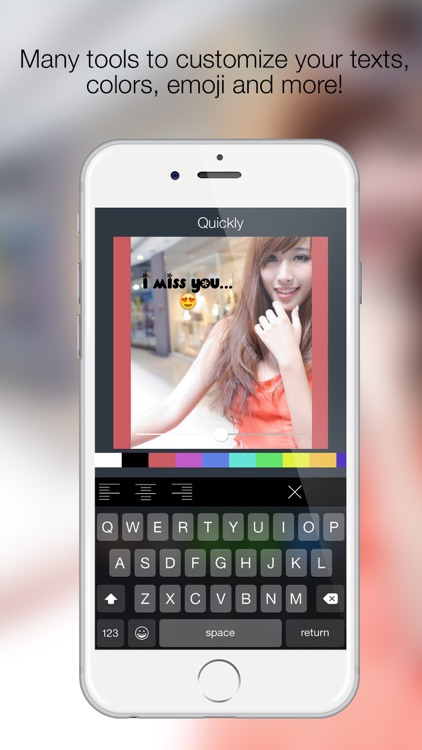 Quickly - Add styled text to your photos in simple way