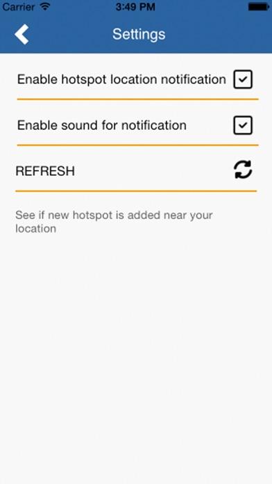 NT Hotspot Locator Screenshot on iOS