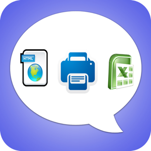Export Messages - Save Print Backup Recover Text SMS iMessages app