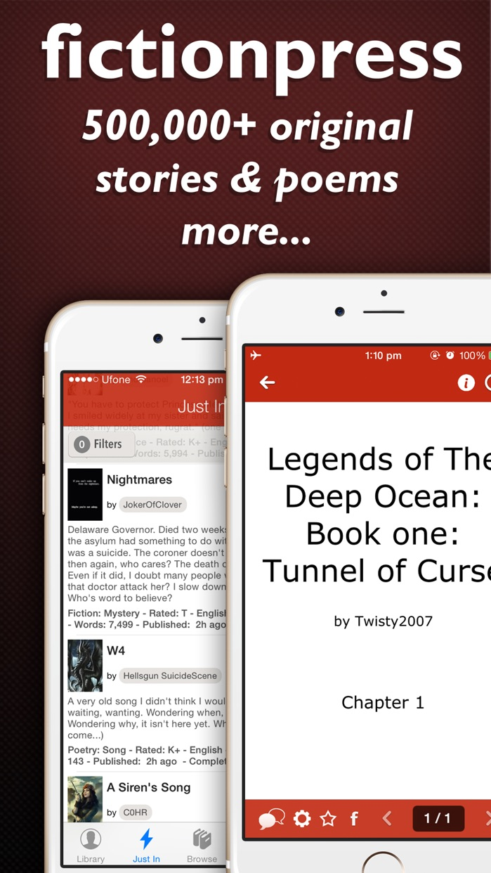 FictionPress - Library of books, ebooks and peoms Screenshot