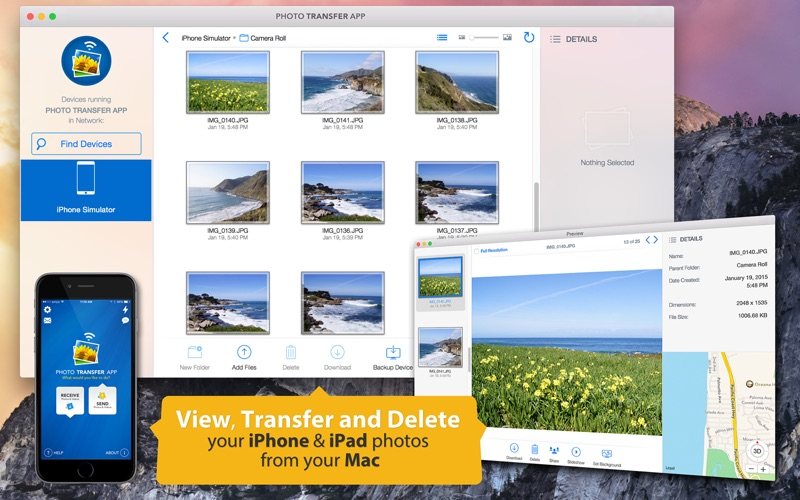 Photo Transfer App Screenshot