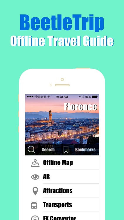 Florence travel guide and offline city map, Beetletrip Augmented Reality Florence Metro Train and Walks screenshot-0