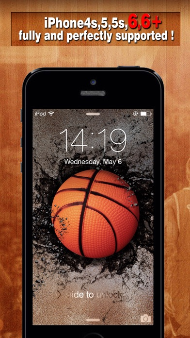 Basketball Backgrounds Wallpapers Screen Lock Maker For Balls And Players By Chao Zhang More Detailed Information Than App Store Google Play By Appgrooves Books Reference
