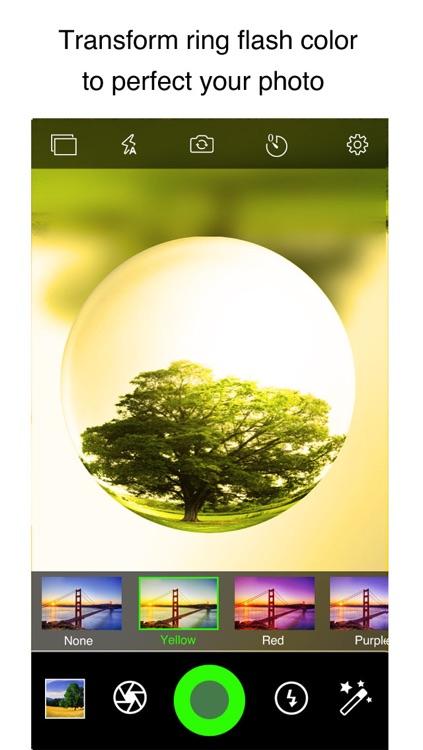 iPixelCamera Free - Powerful Camera with Fisheye Lens, Old Films and Color Flashlights screenshot-3