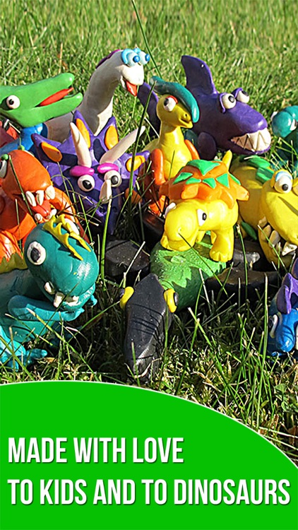 Dinosaurs. Let's create from modelling clay. Wikipedia for kids. Dino pets creative craft. screenshot-4