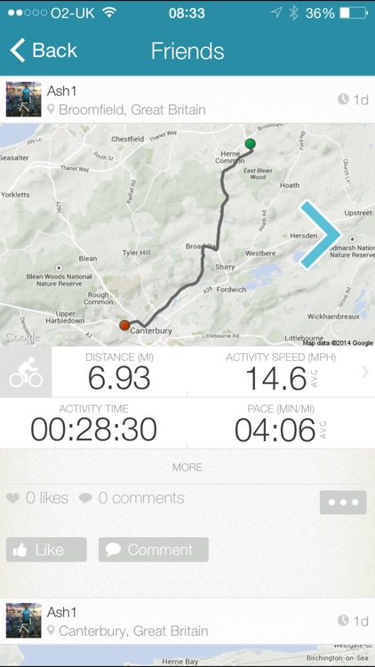 Map My Tracks -GPS cycling walking running tracker screenshot-3