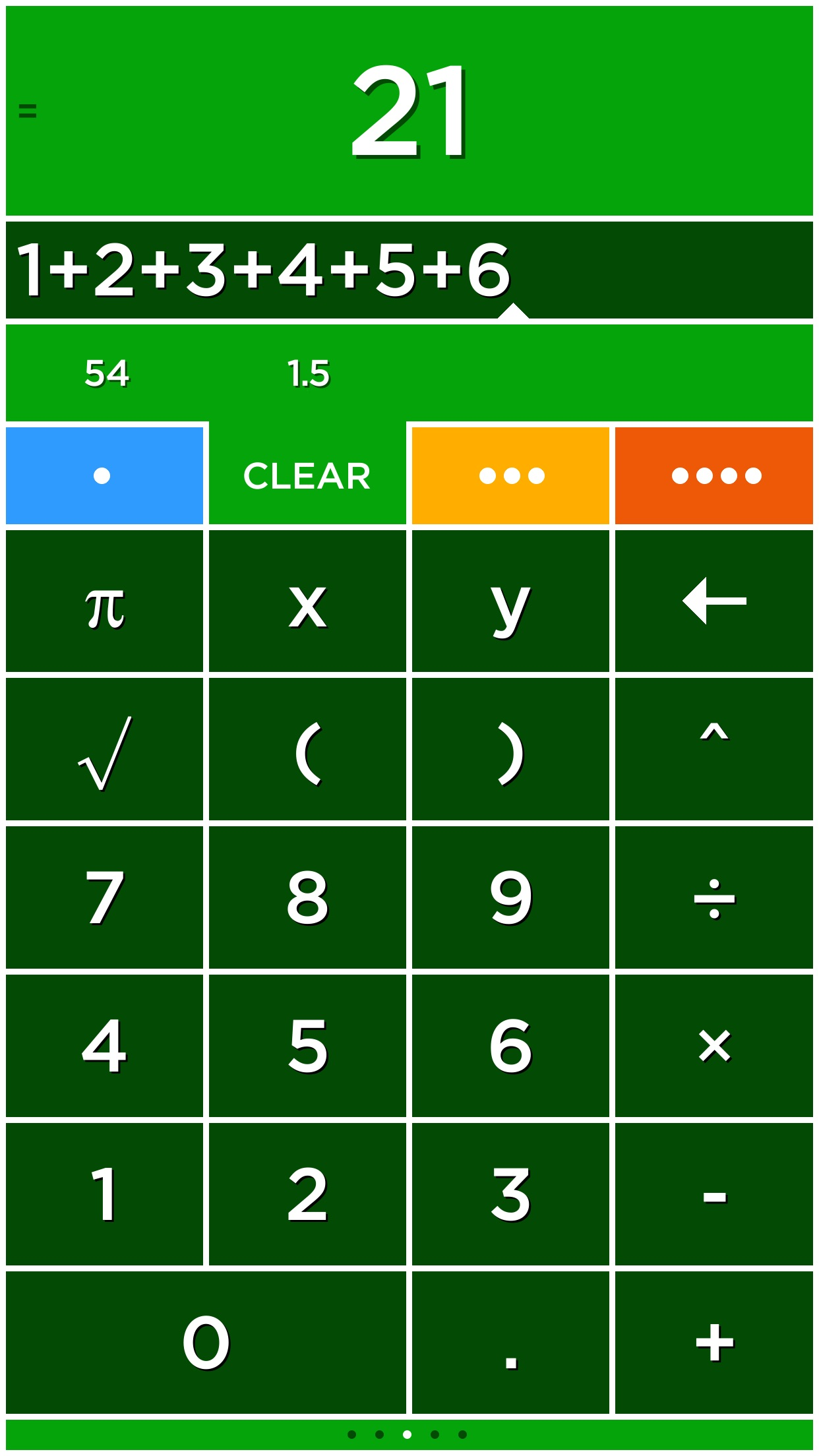Screenshot do app Solve - A colorful graphing calculator