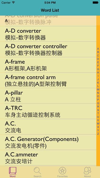 汽车专业英汉汉英词典-5万离线词汇可发音