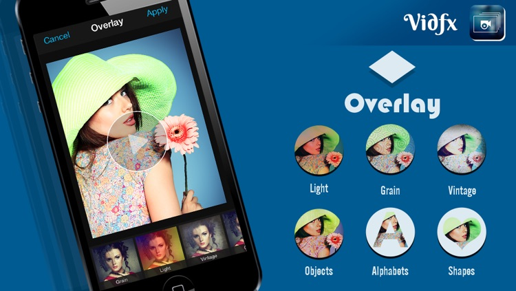 VidFx FREE-Add Video Effects by using Overlays and also add background music for videos