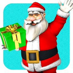 Circle the Santa Claus with Merry Christmas Presents