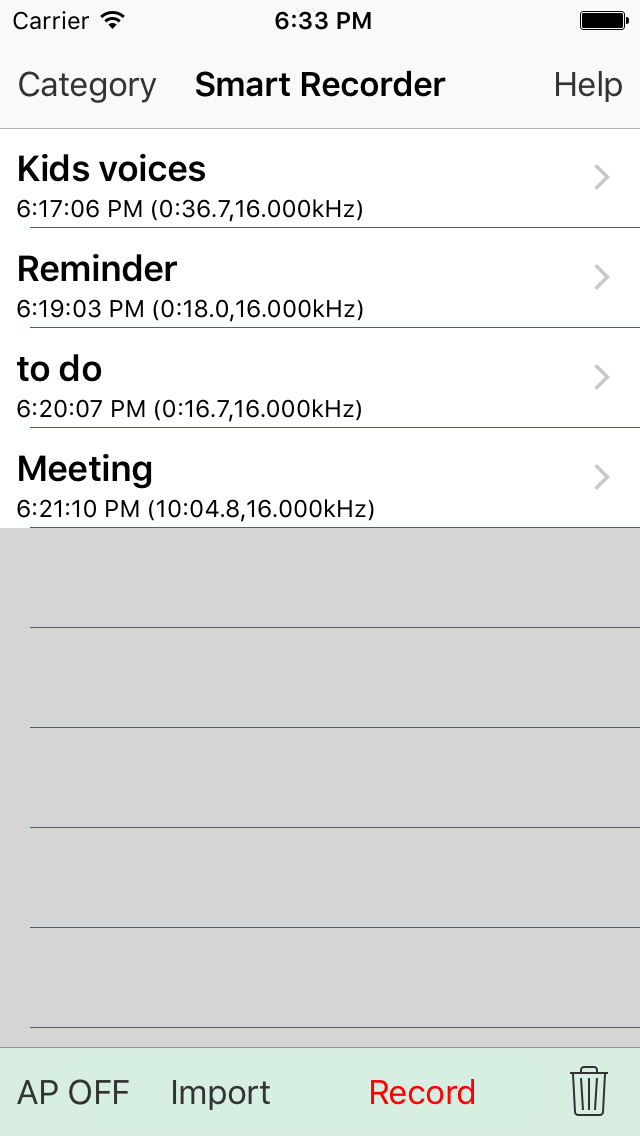 Smart Recorder DE Classic - The transcriber and voice recording app Screenshot