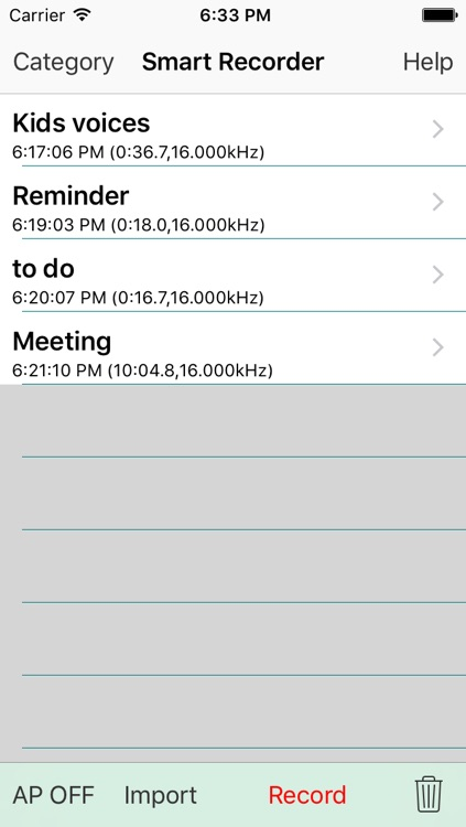 Smart Recorder DE Classic - The transcriber and voice recording app screenshot-0