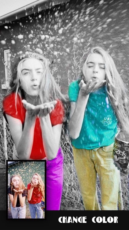Pic Color Effects - Photo Splash Modifier: Black & White, Selective Grayscale plus Recolor FX
