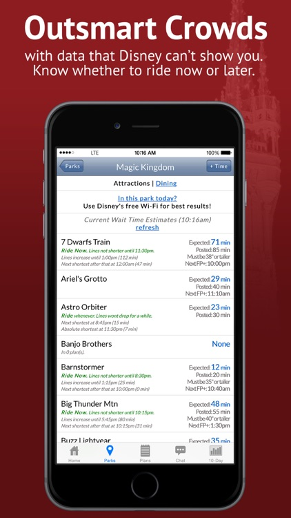 Disney World Lines from TouringPlans.com
