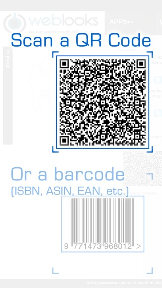 QR & Barcode Reader and Scanner - simple and fast for all kinds of products and books app image