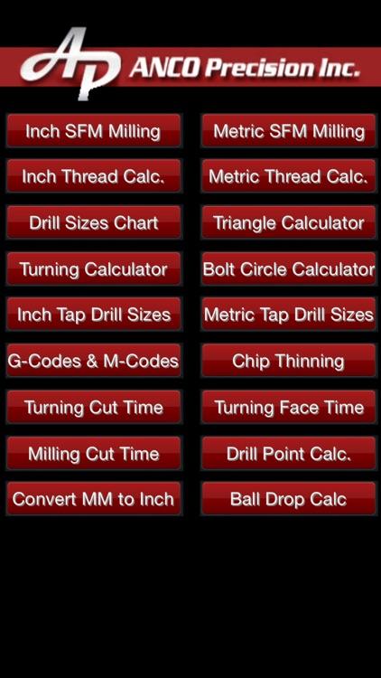 Machinist Calculator SFM