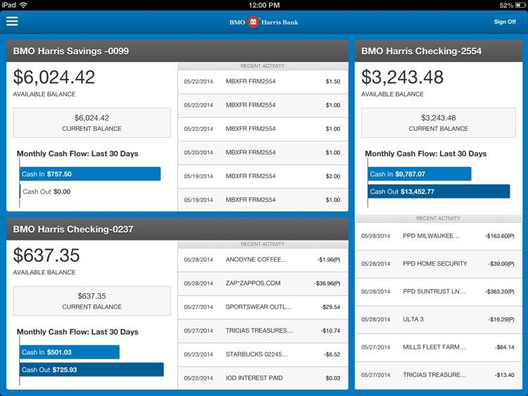 BMO Harris Mobile Banking for iPad screenshot-3