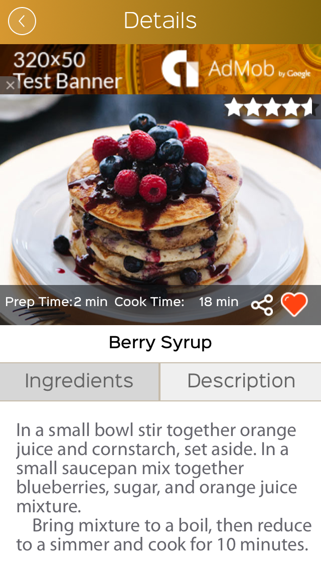 gluten free food recipes screenshot three