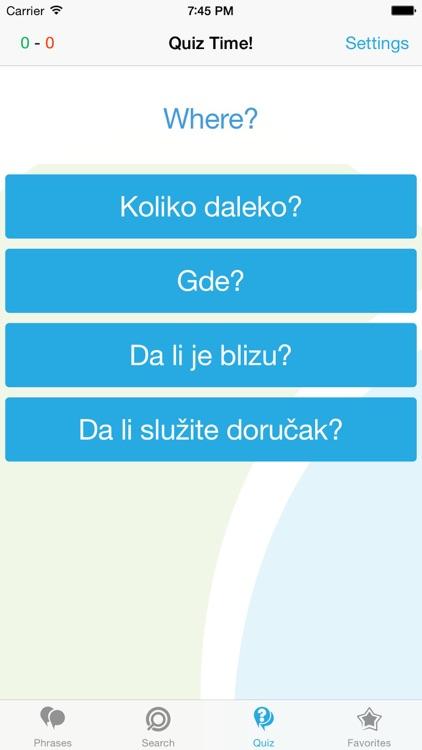 Serbian Phrasebook - Travel in Serbia with ease screenshot-3