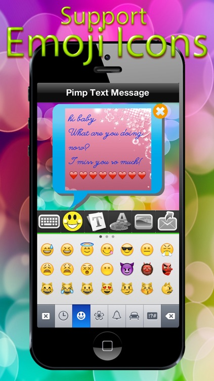 Color Font Bubble Message Free - Funny Colorfy Keyboard Emoji Msg screenshot-3