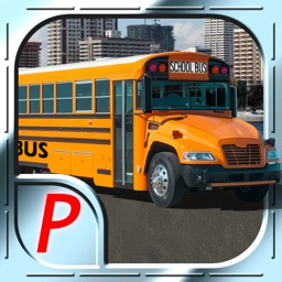 3D Bus City Parking Simulator - Realistic Downtown Traffic Driving XL : Free Game