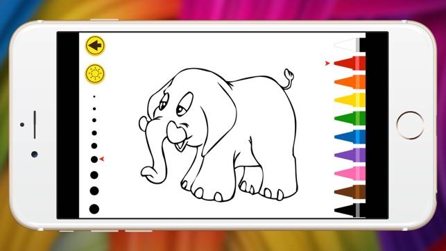 animal terrestre elefante crayón para colorear pastel y alpaca ...