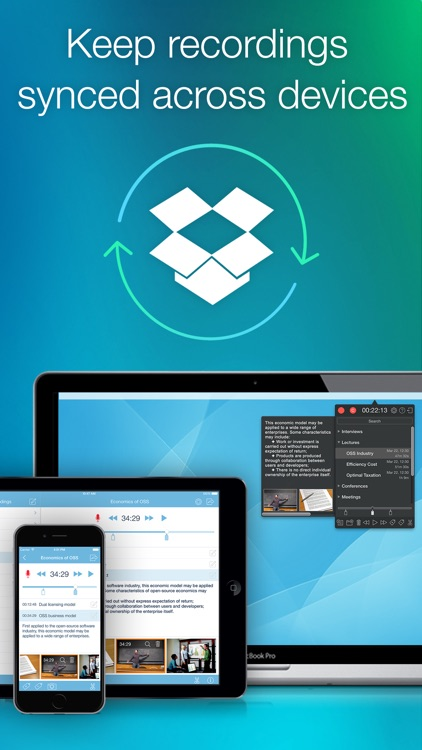 eXtra Voice Recorder: record, edit, take notes, and sync with Dropbox (Perfect for lectures or meetings) screenshot-4