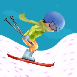 Awesome Ski Mountain Rider - Cool speed Hill race