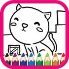 かわいい動物の着色のページの子供たち icon