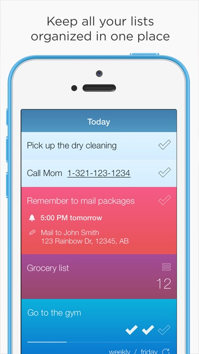 Screenshot #2 for Checklist One - Task Lists, Notes & Reminders