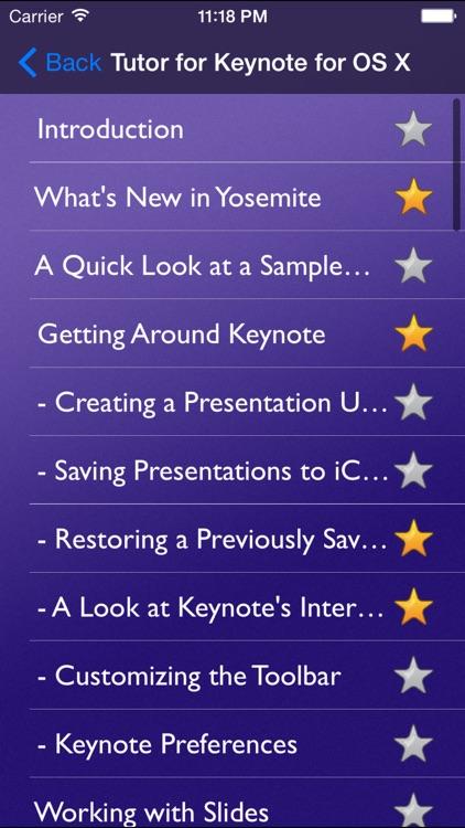 Tutor for Keynote for OS X