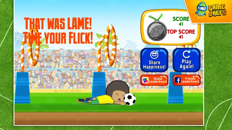 Football Rainbow Flick : Best free game for football fans screenshot-4