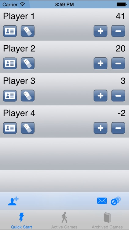 Score Keeper - The digital score pad point tracker for Sports, Card and Board games screenshot-3