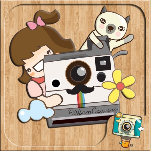 RibbonCamera  by PhotoUp - Cute Stamps Frame Filter photo decoration app iOS App